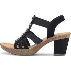 Rieker Sommer-Sandalette schwarz Damen