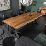 riess-ambiente.de Massiver Baumstamm Tisch Mammut 200cm Akazie Massivholz Esstisch Küchentisch Konferenztisch