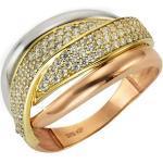 Ring 375/- Gold Zirkonia weiß Glänzend Fascination by Ellen K. gelb