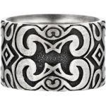 Ring 925/- Sterling Silber ohne Stein matt CAI Silbergrau