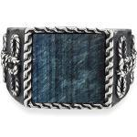 Ring 925/- Sterling Silber Tigerauge blau Mattiert 3,00ct CAI weiß