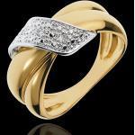 Ring Kostbares Doppel - Gelbgold mit 6 Diamanten