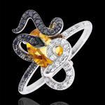 Ring Spaziergang der Sinne - Gorgonia - Silber, Diamanten und Halbedelst