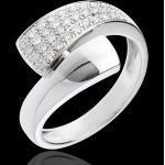 Ring tropique in Weissgold - 0.26 Karat - 34 Diamanten