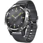 Riou Fitness Armband,IP68 Wasserdicht Smartwatch mit Blutdruckmessung Pulsmesser Fitness Tracker Sportuhr Schrittzähler