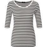 Ripp-Jersey-Shirt Marc Cain weiss