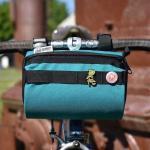 Road Runner Bags Burrito Supreme türkis / orange Handlebar Bag Frontloader Lenkertasche