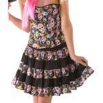 Schwarze Buttinette Mexikaner-Kostüme für Damen Größe S