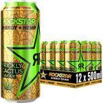 Rockstar Energy Drink Hemp Prickly Cactus - Koffeinhaltiges Erfrischungsgetränk für den Energie Kick, EINWEG (12x 500ml)