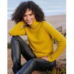 Rollkragen-Pullover aus 100% Premium-Kaschmir Peter Hahn Cashmere gelb