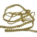 rosenice 0,6 cm 10 mt Posamentenborte, Geflochtenen Gimp Trim Deko Stoffband für Hochzeit Geburtstag Party DIY Handwerk Dekoration (Golden)