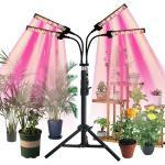 Rosnek Pflanzenlampe »3/4 Head 216-288 LED Pflanze wachsen Licht Indoor Veg Blume Vollspektrum Lampe + Stativ Stand«, 3 Lichtfarbe Modi