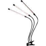 Rosnek Pflanzenlampe »LED Grow Light,2/3/4 Kopf,Vollspektrum,Clip-On,USB,für Blumen Gemüse Pflanzen«, Pflanzenwachstumslicht, 3 St.