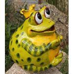 Rostalgie Keramik Gartenkugel Froschkönig Grün Gartendekoration Tierfigur Handarbeit