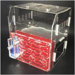 ROUND YUAN Haustier Ameisen 3D Villas Home Ameisennest Acryl Farm Ameisen Palace Schloss Insektenkäfige Studenten Scientific Device Toy F1H (rot)