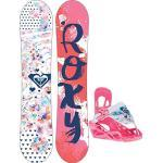 Roxy Kinder Freestyle Snowboard Set Poppy 100 Banana Speed Strap Set Gi