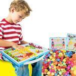 RUIXIB Kinder Puzzle Mosaik Bausteine Steckspiel Pädagogisches Spielzeug Steckkugeln Lernspaß Steckspielzeug Pädagogisches Spielzeug Geschenkset für Junge Mädchen im Alter von 3 Jahre und bis