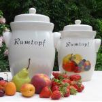 Rumtopf Keramik - luftdicht zum Gären von Früchten kaufen
