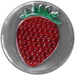"Rundes Metalletikett ""Erdbeere"""