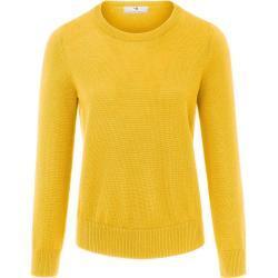 Rundhals-Pullover aus 100% SUPIMA®-Baumwolle Peter Hahn gelb