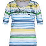Blaue Rabe Rundhals-Ausschnitt Sommershirts für Damen