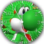 RUSCH Super Mario Yoshi Wanduhr 25,4 cm Will Be Nice Gift und Raum Wand Decor W242