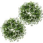 Ruscus-Kranz VE 2 Stk, Ø ca. 330 mm Blüten weiß