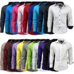 Rusty Neal Langarmhemd mit farblich abgesetzten Elementen schwarz Herren Langarm Freizeithemden Hemden (langarm)