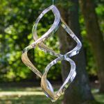 Silberne Nachhaltige Zeitgenössische Windspiele UV-beständig