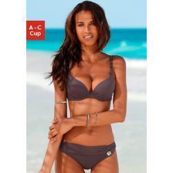 Braune s.Oliver Push Up Bikinis gepolstert für Damen Größe M für den Winter