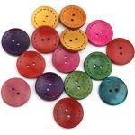 Sadingo Holzknöpfe Mischung bunt (25mm, 50 Stück) Knöpfe zum annähen, kleben, dekorieren, basteln, Kinder Babykleidung