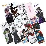 Saicowordist 10 Stück/Set Anime-Papier-Lesezeichen Cartoon kreative Charaktere farbig gedrucktes Lesezeichen Set Mini Karten Hot Geschenk für Anime-Fans (Black Butler)