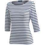 Saint James 3/4-Arm-Shirt »5498« Damen Shirt 3/4 Arm Garde Cote III R mit Streifen, Weiß-Blau