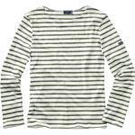 Saint James Herren Bretagne-Shirt streifen weiß/khaki 3XL, L, M, XL, XXL