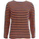 Saint James Langarmshirt »6870« Unisex Shirt Meridien Modern mit Streifen aus kardierter Baumwolle, Marine/Tuba