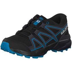 Salomon Kinder Trail Running Schuhe, SPEEDCROSS J, Farbe: schwarz/blau (Black/Graphite/Hawaiian Surf), Größe: EU 31