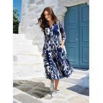 Samantha Sung Kleid Nordic Ikat, 38 - Tintenblau/Cremeweiß