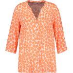 Samoon Bluse - Damen - orange/gemustert jetzt im Angebot