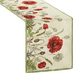 Sander Gobelin Tischläufer Poppy Meadow rot 32x96 cm