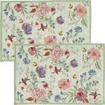 Sander Gobelin Tischset Bloom im 2er-Pack gruen/bunt/rose 32x48 cm