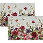 Sander Gobelin Tischset In Bloom im 2er-Pack rot 32x48 cm