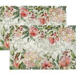 Sander Gobelin Tischset Love Flowers im 2er-Pack rose/gruen 32x48 cm