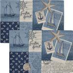 Sander Gobelin Tischset Sailor Patch im 2er-Pack blau/braun-beige 32x48 cm
