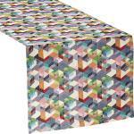 Sander Tischläufer Cubes bunt 50x140 cm