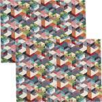Sander Tischset Cubes im 2er-Pack bunt 35x50 cm