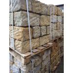 Sandstein Mauersteine grau/beige FK 20x20x40cm Toleranz +/-3cm m.Keil/Spaltsp