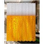 Sanilo Duschvorhang Bier, Breite 180 cm, Höhe 200 cm gelb Duschvorhänge Duschen Bad Sanitär