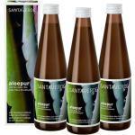 Santaverde Aloepur 100% Reiner Aloe Vera Saft 3 x 330 ml Nahrungsergänzungsmittel