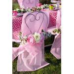 Santex Stuhlhusse mit Schleife, rosa, 50 x 95 cm