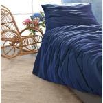 Satin Bettwäsche-Set Porto in blau 100% Baumwolle - hergestellt in Portugal